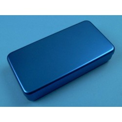 Boîte aluminium, 18 x 9 x 3 cm, colorée
