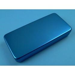 Boîte aluminium, 21 x 10 x 3 cm, colorée