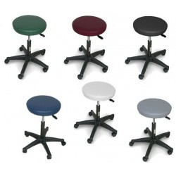 tabouret r glable 5 roulettes pieds nylon medica services fr. Black Bedroom Furniture Sets. Home Design Ideas