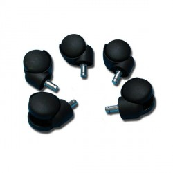 Roulettes, set 5 pièces pour tabouret, lampe d'examen ou pied à sérum