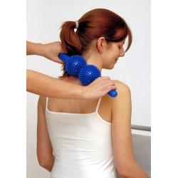 Rouleau de massage Spiky twin roller