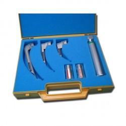 Coffret Laryngoscope F/O, 3 lames Miller n°0,1,2 et 1 manche