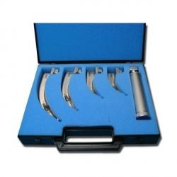Coffret Laryngoscope Mc Intosh, 4 lames n°1,2,3 et 4