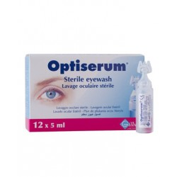 Optisérum, lavage oculaire, 12 doses de 5 ml