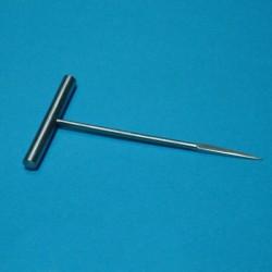 Alesoir a main, 15 cm, manche en t, pointe carree