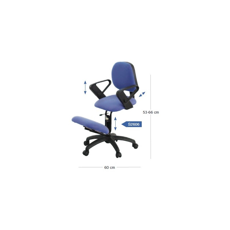 Sige ergonomique assis genoux sige assisdebout ergo up for Chaise ergonomique genoux