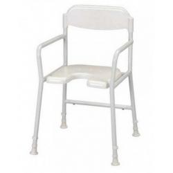 chaise de douche avec accoudoirs et découpe intime